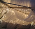 tulle & string light swags